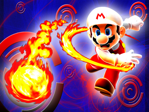 fuoco Mario wallpaper