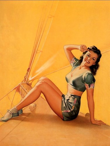 pin up girl wallpaper containing a bikini called Frush Pin-Up