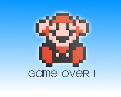Super Mario Hintergrund entitled Game Over!