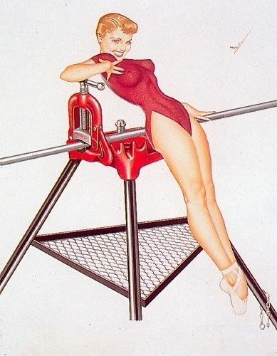 Pin Up Girls wallpaper titled George Petty Pin - Up