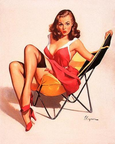 Pin Up Girls wallpaper entitled Gil Elvgren Pin-Up