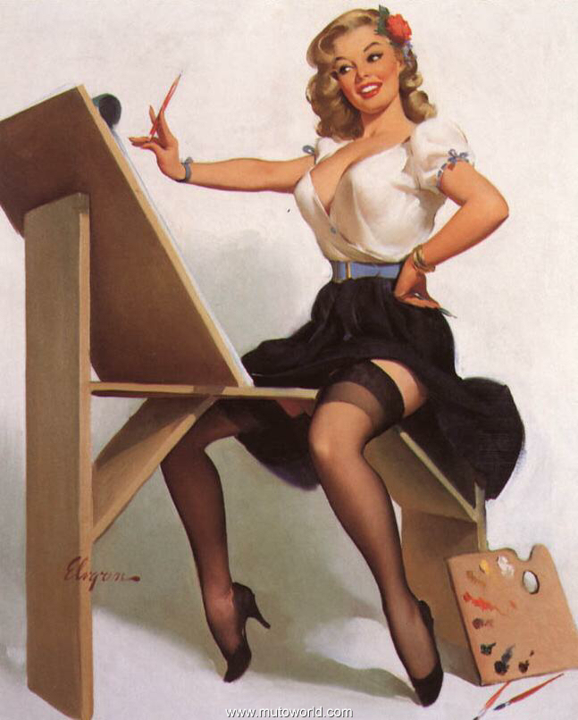Erotic art pin up girl Etsy