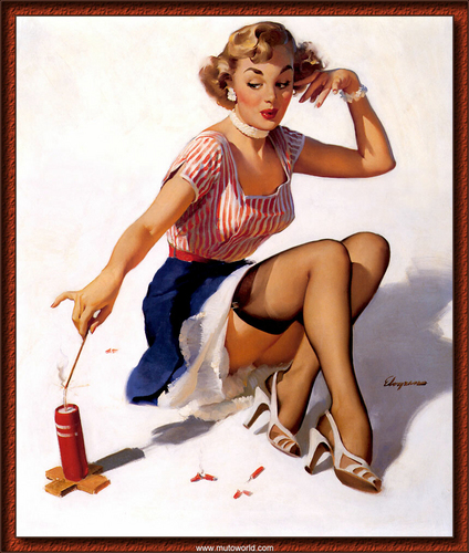 pin up girl wallpaper probably containing bare legs, hosiery, and tights called Gil Elvgren Pin-Up