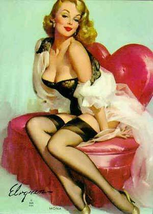 Pin Up Girls wallpaper probably with skin entitled Gil Elvgren Pin-Up