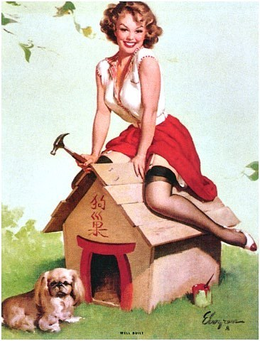 pin up girl wallpaper probably with a dress titled Gil Elvgren Pin-Up