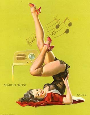 pin up girl wallpaper probably containing skin and a portrait entitled Gil Elvgren Pin-Up