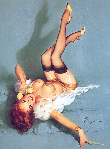pin up girls art. Gil Elvgren Pin-Up - Pin Up Girls 442x600