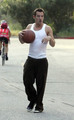 Jonathan playing basketball