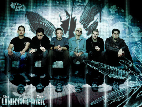 Linkin Park wallpaper possibly with a sign and a concert called LP ♥