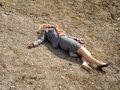 Leslie Falls Into Pit