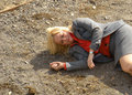 Leslie Falls Into Pit - parks-and-recreation photo