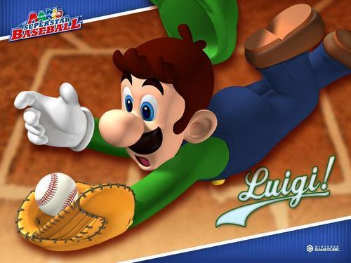 Luigi wallpaper titled Mario Baseball Luigi
