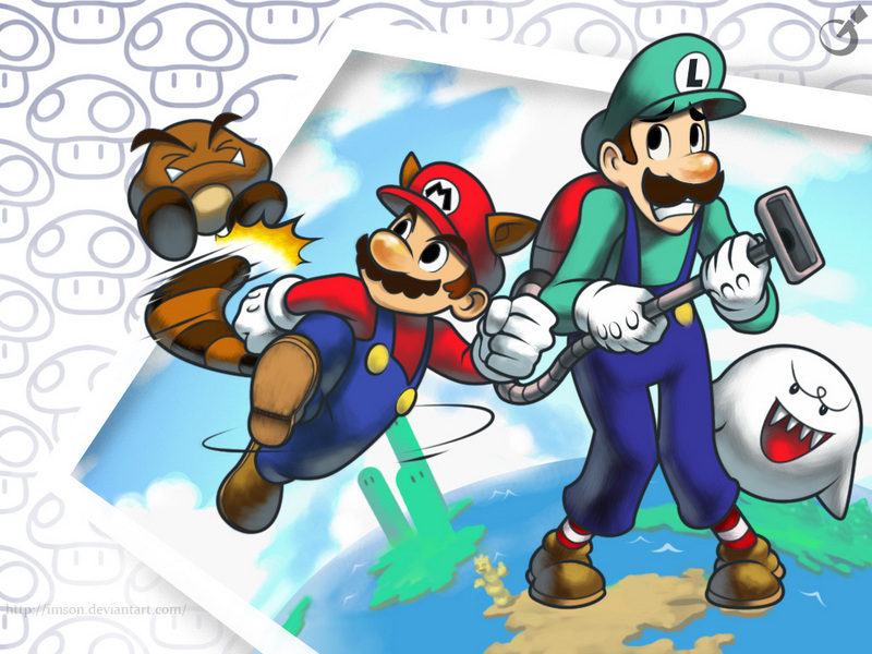 mario bros wallpaper. Mario Bros Wallpaper