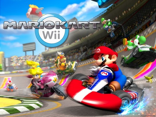 Super Mario Hintergrund probably containing a street, a business district, and a bouquet entitled Mario Kart Hintergrund