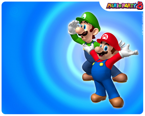 Super Mario Bros. wallpaper titled Mario Party 8