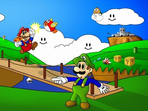 Mario Showcase Hintergrund
