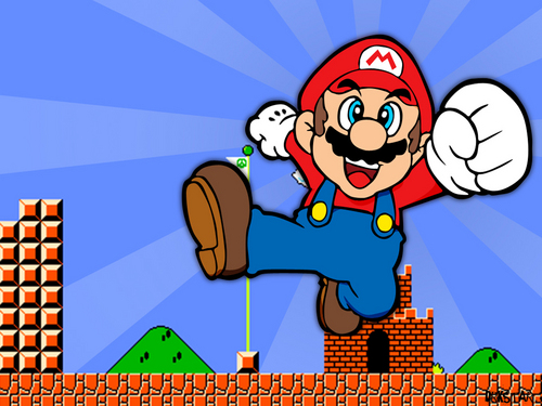 super mario bros wallpaper containing animê entitled Mario wallpaper
