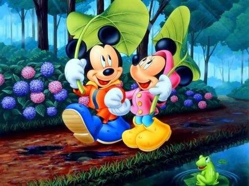 Mickey and Minnie fond d'écran