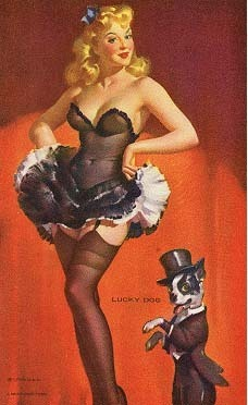 Pin Up Girls wallpaper with attractiveness, a lingerie, and a bustier entitled Mutoscope Card