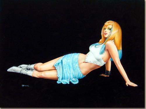 pin up girl wallpaper entitled Olivia Pin-up Art