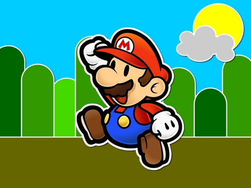 Super Mario Bros wallpaper possibly containing Anime entitled Paper Mario wallpaper