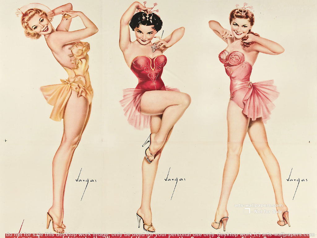 Pin-Up Wallpaper - Pin Up Girls