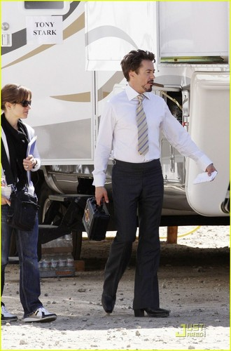 RDJ on the Set of Iron Man 2