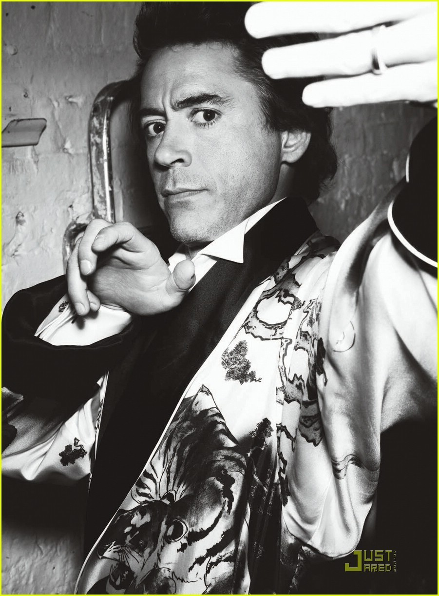 Robert Downey Jr Photoshoot in VogueMen