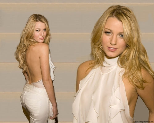 Serena van Der Woodsen wolpeyper probably containing a chemise, a playsuit, and a chemise entitled Serena