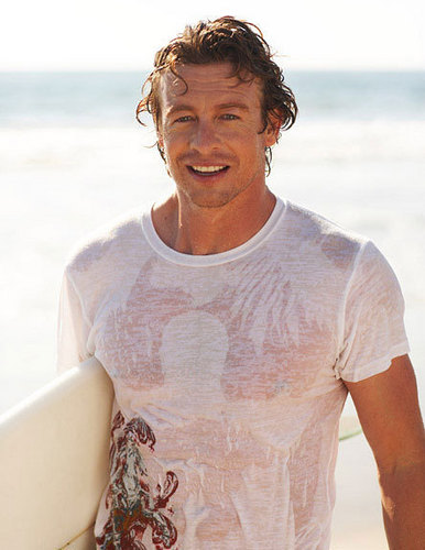 Simon Baker pantai Photoshoot