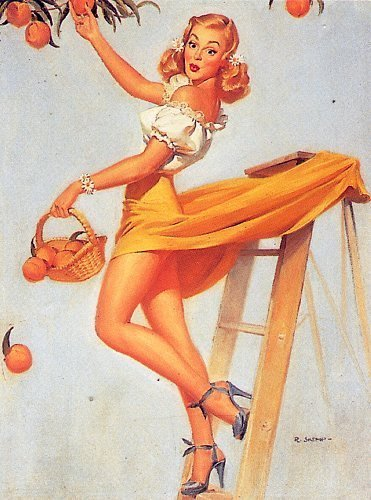 pin up girl wallpaper called Skemp Pin-Up
