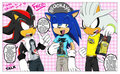 Sonic, Shadow and Silver talk t-shirts x3 - sonic-guys fan art