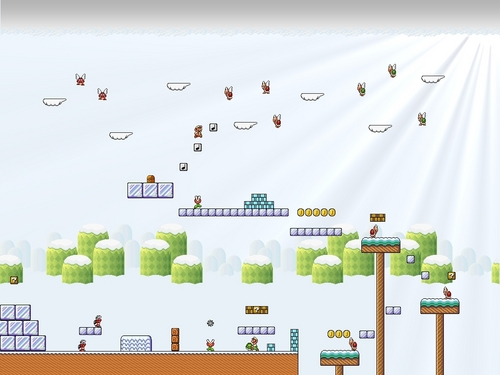 Sprite World Wallpaper - super-mario-bros Wallpaper