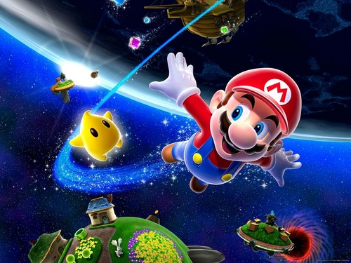 Super Mario Bros. wallpaper called Super Mario Galaxy Wallpaper