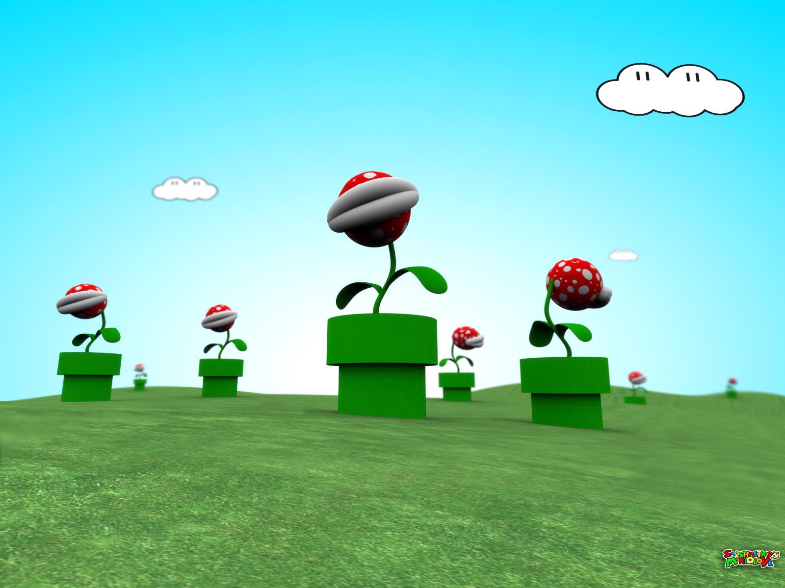 Super Mario achtergrond