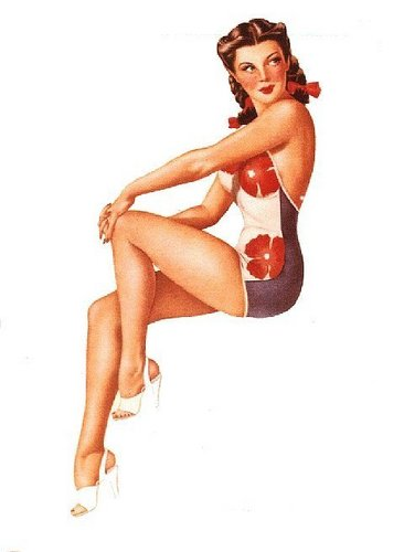 pin up girl wallpaper possibly with a leotard, a swimsuit, and a maillot entitled Vargas Pin-Up