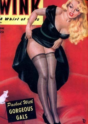 Pin Up Girls wallpaper probably containing bare legs, hosiery, and tights called Wink