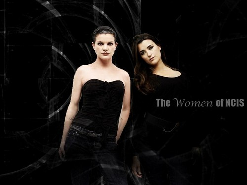 NCIS wallpaper containing a dinner dress and a cocktail dress titled Women of NCIS Abby and Ziva