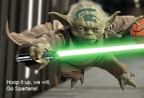 Yoda's an MSU Spartan fan