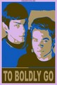2 boldly go poster - star-trek-2009 fan art