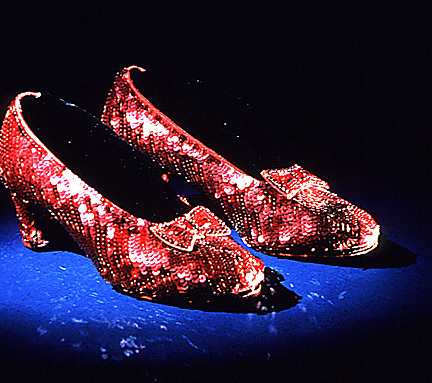 The Wizard of Oz wallpaper titled A Pair of Original Ruby Slippers