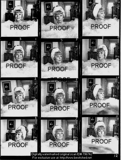 Agnes Moorehead Proof Sheet Bewitched Photo 5501239