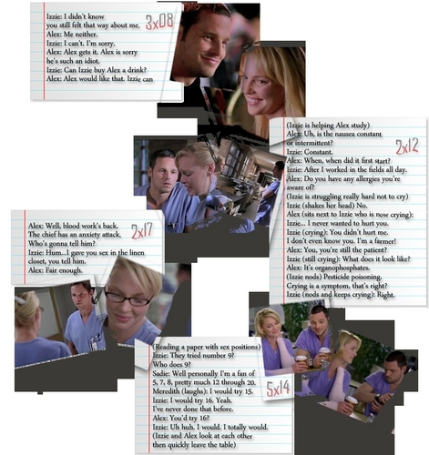 Alex and Izzie wallpaper possibly containing a newspaper and anime titled Alex & Izzie