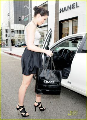 April 9th: At Chanel boutique in Beverly Hills