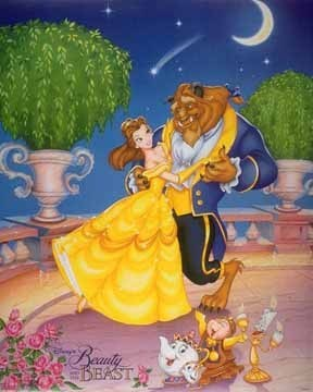 Classic Disney kertas dinding containing Anime entitled Beauty and the Beast