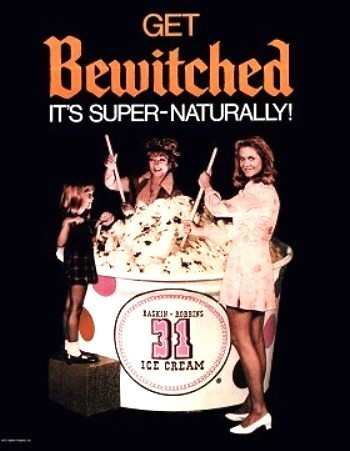 Bewitched 1969 Ice Cream Ad