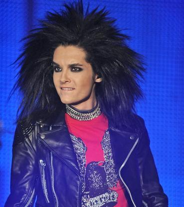 Bill Kaulitz achtergrond possibly containing an outerwear, an overgarment, and a blouse entitled Bill