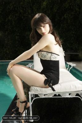 Zooey Deschanel wallpaper possibly with a leotard, tights, and a bustier called Black Book Photo Shoot