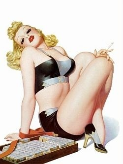 Pin Up Girls wallpaper possibly containing a lingerie, attractiveness, and an underwear titled Blondes And Redheads
