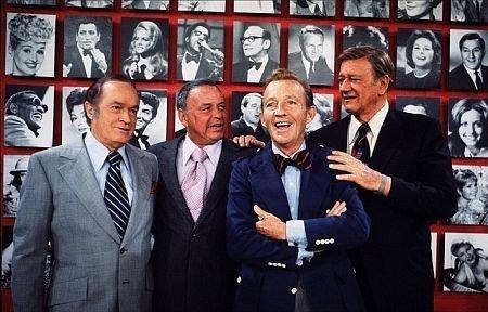 Bob Hope, Frank Sinatra, Bing Crosby and John Wayne
